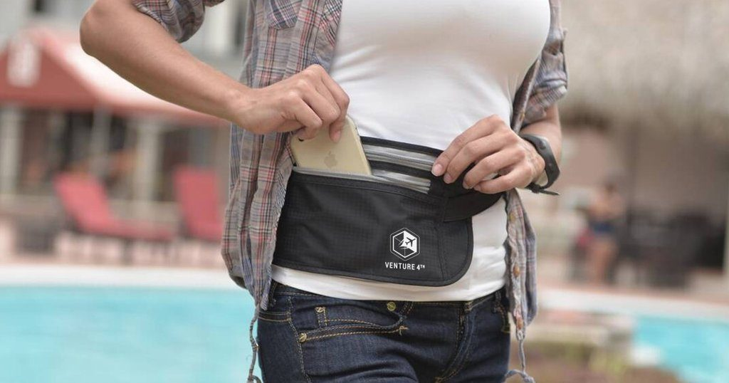 using an anti theft pouch